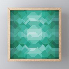 Emerald gem stone Framed Mini Art Print