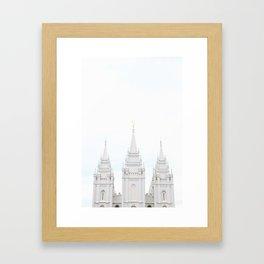 SLC LDS Temple Framed Art Print