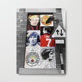 Manchester Afflecks Palace Football Legends Metal Print