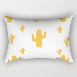 Mustard Cactus Pattern Rectangular Pillow