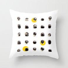 stoneheads 002 Throw Pillow