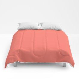 PEACH ECHO PANTONE 16-1548 Comforters