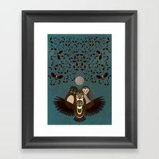 Owls in the Sky Framed Art Print