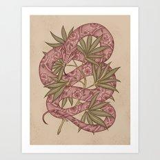 The snake Art Print