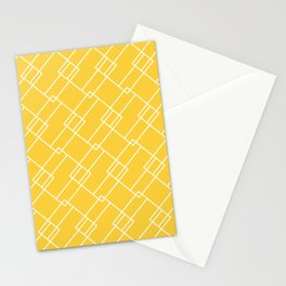 Geometric Square Pattern Stationery Cards