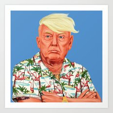 Hipstory -  Donald Trump Art Print