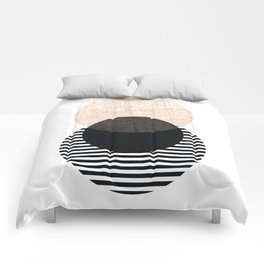 Pink Striped Circles Comforters