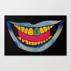 Blue Teeth Canvas Print