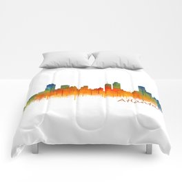 Atlanta City Skyline Hq v2 Comforters