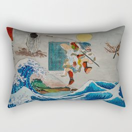 Tadatsune's Journey to Mount Fuji Rectangular Pillow