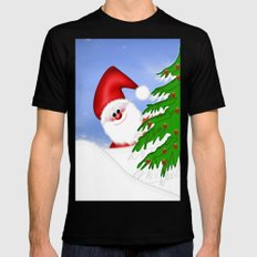 Santa Claus Mens Fitted Tee Black LARGE