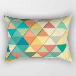 Colorful Triangle Pattern Rectangular Pillow
