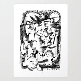 Summer Afternoon - b&w Art Print