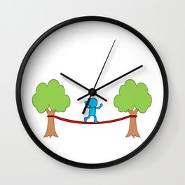 Slackline Balance Sport Slacklineing Slack Gift Wall Clock