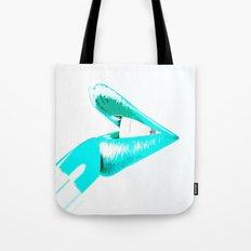 CYAN LIPS Tote Bag