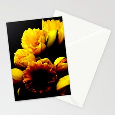Daffodils in Black Stationery Cards