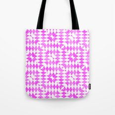 Pink And WHite abstract pattern Tote Bag