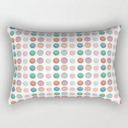 Vintage Sewing Thread Machine Button Pattern Rectangular Pillow