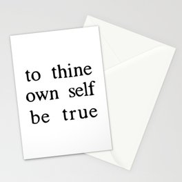 to thine own self be true Stationery Cards