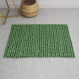 Forest Green Knit Rug