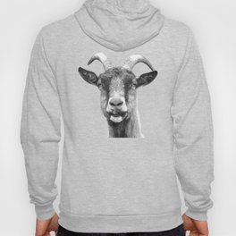 Black and White Goat Hoody