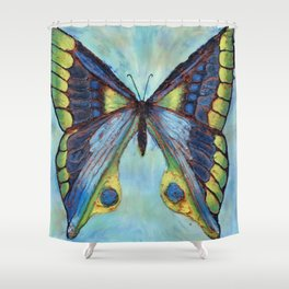 Patina Butterfly Shower Curtain