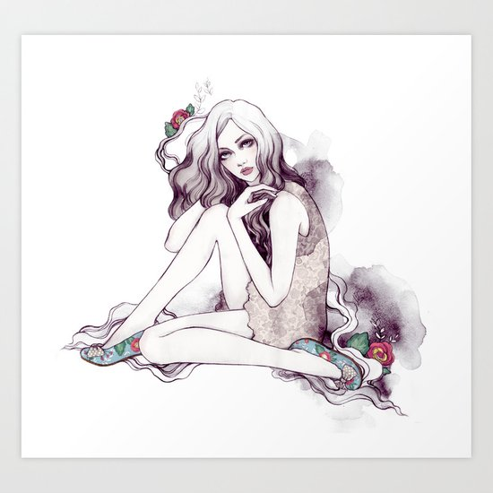 Picadilly Girl Art Print