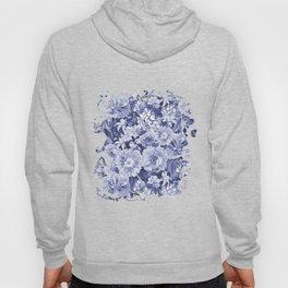 Nostalgic Blue Flower Pattern Hoody