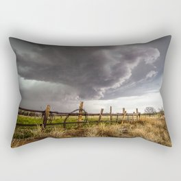 Western Life - Barbed Wire and Storm on the Ranch Rectangular Pillow