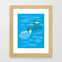 Cloudy delivery Framed Art Print