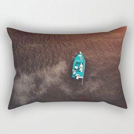 A boat on the ocean Rectangular Pillow