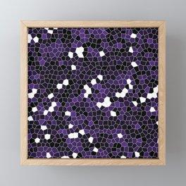 Indigo Purple Polycamo Framed Mini Art Print
