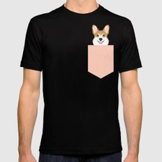 Shelby - Welsh Corgi gifts with corgi illustration for dog people and corgi owner gifts dog gifts Black Mens Fitted Tee MEDIUM