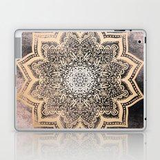 GOLD EARTH FLOWER MANDALA Laptop & iPad Skin