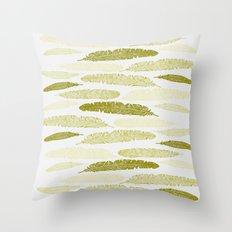 Feathers - Sage Throw Pillow