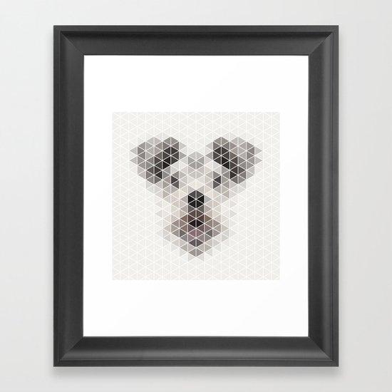 Happy pup Framed Art Print