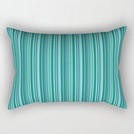 Turquoise striped . Rectangular Pillow