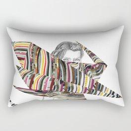 Origami Girl Rectangular Pillow