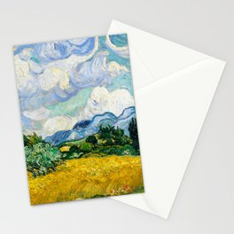 Vincent Van Gogh - Wheat Field with Cypresses Stationery Cards