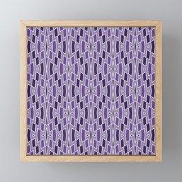 Fragmented Diamond Pattern in Violet Framed Mini Art Print
