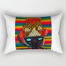 Cat with Lao traditional hat Rectangular Pillow
