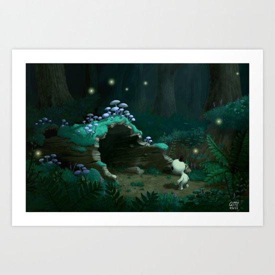 Hollow Log Art Print