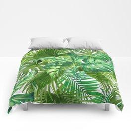 green tropic Comforters