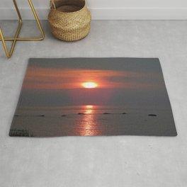 Ste-Anne-Des-Monts Sunset on the Sea Rug