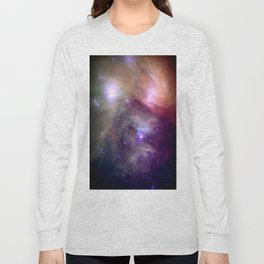 Galaxy : Pleiades Star Cluster NeBula Long Sleeve T-shirt