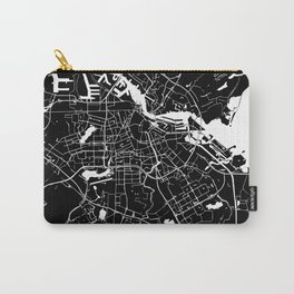 Amsterdam Black on White Street Map Carry-All Pouch