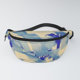 Mellow Summer Breeze Palm Trees Bunting Fanny Pack