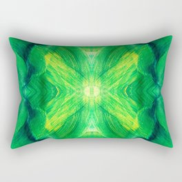 Brush play in hues of green 13 Rectangular Pillow