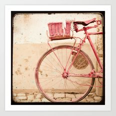 i took my bike and went against the wind... Art Print