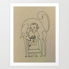 Saluki Lover Art Print